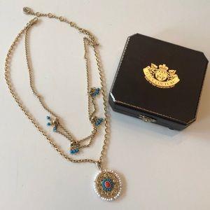 Gold Juicy Couture pendant necklace